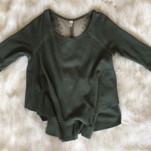 Free People Flowy Thermal with Lace Back